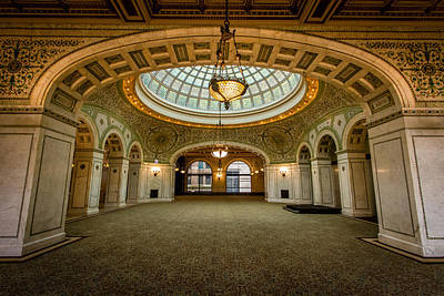 Glasswork Photograph - Chicago Cultural Center by Mike Burgquist