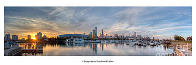Soldier Field Photograph - Chicago From Burnham Harbor by Twenty Two North Photography