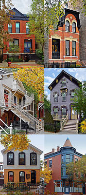 Old Houses Photograph - Chicago Historic Old Town Triangle by Christine Till