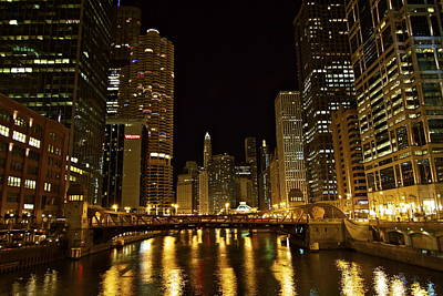 Chicago Nightscape Art Print