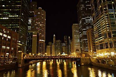 Chicago Nightscape Art Print by John Babis