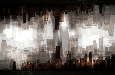 Abstract Skyline Wall Art - Photograph - Chicago Skyline by Carmine Chiriac??