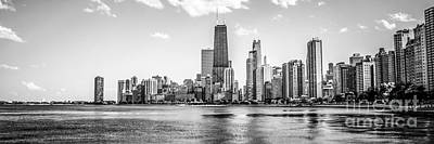 Abstract Graphics Rights Managed Images - Chicago Skyline Panorama Photo Royalty-Free Image by Paul Velgos