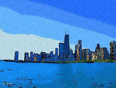 Hancock Building Mixed Media - Chicago Skyline  by Skyler Tipton