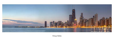 Sky Line Photograph - Chicago Skyline by Twenty Two North Photography