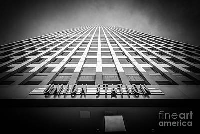Terminal Photograph - Chicago Union Station In Black And White by Paul Velgos