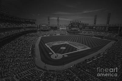 Photograph - Chicago White Sox 8693 Bw by David Haskett