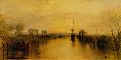 English Scene Painting - Chichester Canal by Joseph Mallord William Turner