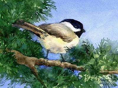 Painting - Chickadee  by Virginia Potter
