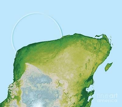 Dinosaur Map Photograph - Chicxulub Impact Crater, Yucatan, Mexico by Detlev van Ravenswaay