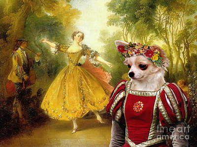 Nobility Dogs Painting - Chihuahua Art Canvas Print by Sandra Sij