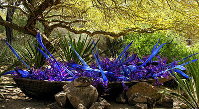 Photograph - Chihuly Desert Artwork by Robert Lozen
