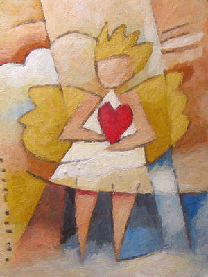 Painting - Child Angel Heart by Lutz Baar