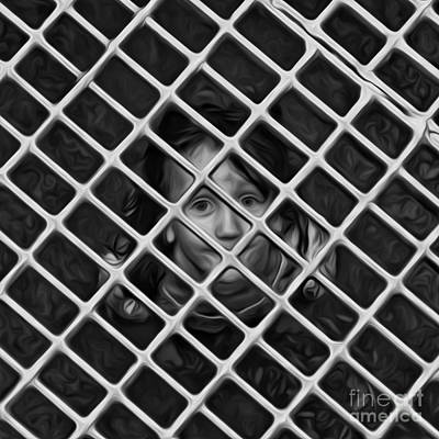 Grate Digital Art - Child Of The Streets by Brian Mollenkopf