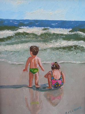 Children On The Beach Art Print