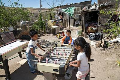 Sonora Photograph - Children Playing In A Slum by Jim West