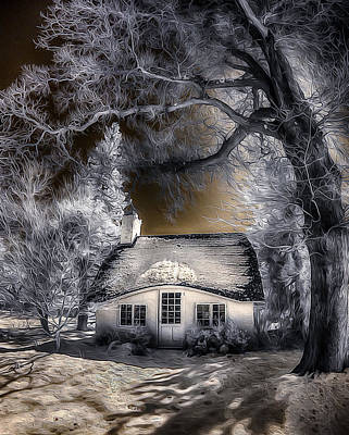 Print featuring the photograph Children's Cottage by Steve Zimic