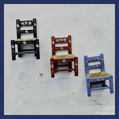 Photograph - Children's Little Chairs On Display by Phil Cardamone