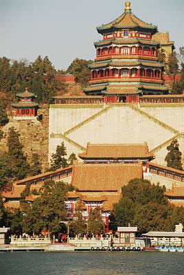 China, Beijing, Summer Palace, Temple Art Print