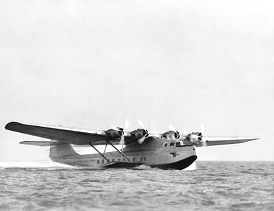 Photograph - China Clipper Seaplane by Underwood Archives