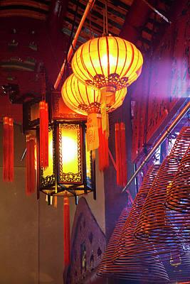 China, Hong Kong, Spiral Incense Sticks Art Print by Terry Eggers