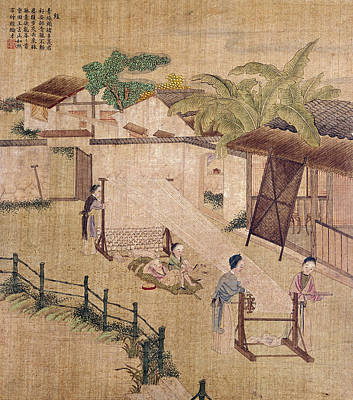 Weaving Painting - China Silk Weaving by Granger