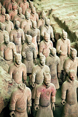 Chin Up Photograph - China, Xi'an, Qin Shi Huang Di by Miva Stock