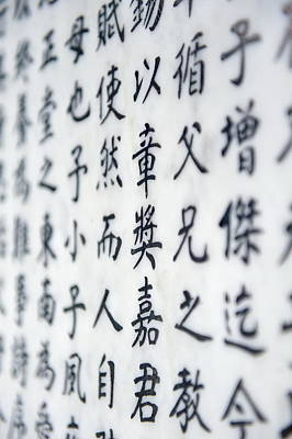 Photograph - Chinese Character Background by Songquan Deng
