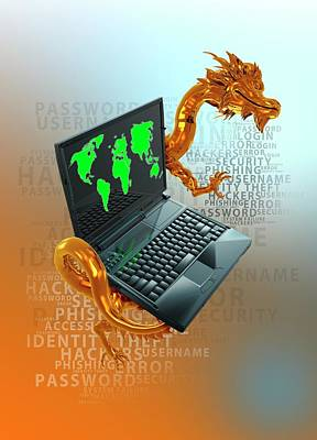 Chinese Dragon Photograph - Chinese Cyber Hacking by Victor Habbick Visions