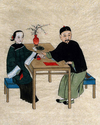 Painting - Chinese Physician Taking Radial Pulse by Wellcome Images