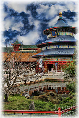 Photograph - Chinese Temple V by Lee Dos Santos