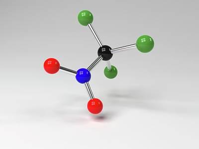 Atom Photograph - Chloropicrin Molecule by Indigo Molecular Images