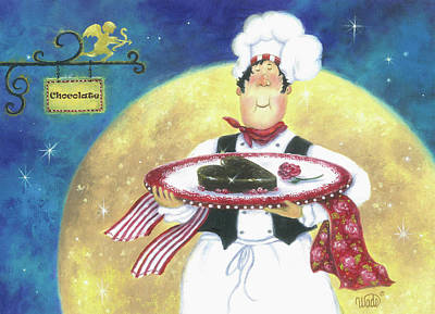 Chocolate Chef Print by Vickie Wade
