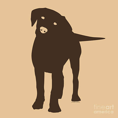 Chocolate Labrador Retriever Digital Art - Chocolate Labrador by Elizabeth Harshman