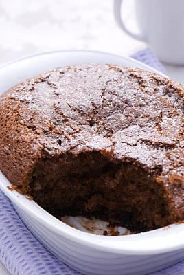 Sponge Photograph - Chocolate Pudding by Amanda Elwell