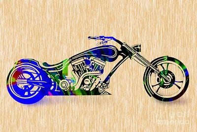 Chopper Painting. Art Print by Marvin Blaine