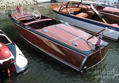 Photograph - Chris Craft Deluxe by Neil Zimmerman