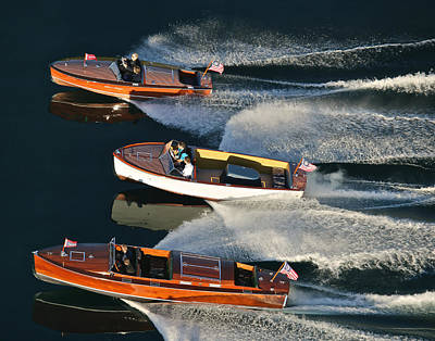 Photograph - Chris-craft Runabouts by Steven Lapkin