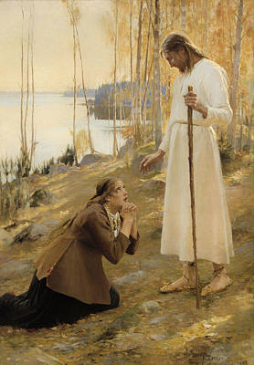 Christian Artwork Painting - Christ And Mary Magdalene  by Mountain Dreams