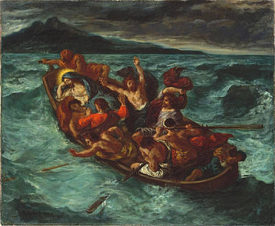 Christ Asleep During The Tempest Print by Eugene Delacroix