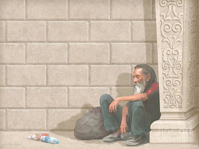 Devotional Painting - Christ At Our Doorstep by John Alan  Warford