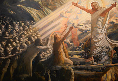 Christian Artwork Painting - Christ In The Realm Of The Dead by Mountain Dreams