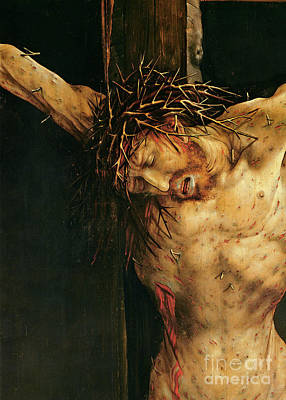 Thorns Wall Art - Painting - Christ On The Cross by Matthias Grunewald