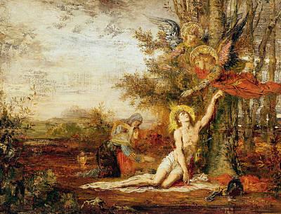 Christ With Angels Art Print