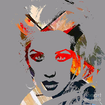 Music Mixed Media - Christina Aguilera Collection by Marvin Blaine