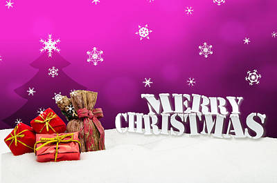1-war Is Hell Royalty Free Images - Christmas background - Christmas tree - gifts - pink - Snow Royalty-Free Image by Michael Kuelbel