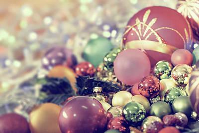 Christmas Baubles Print by Wladimir Bulgar