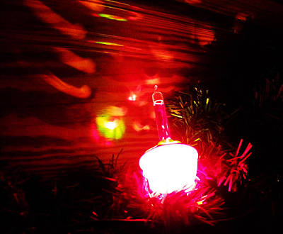 Photograph - Christmas Bubble Lights by Sharon Popek