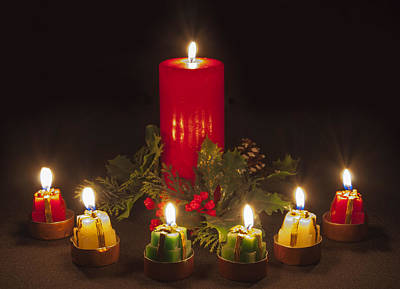 Photograph - Christmas Candles by Ian Cocklin