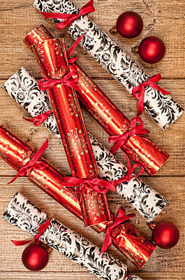 Bow Tie Photograph - Christmas Crackers by Amanda Elwell